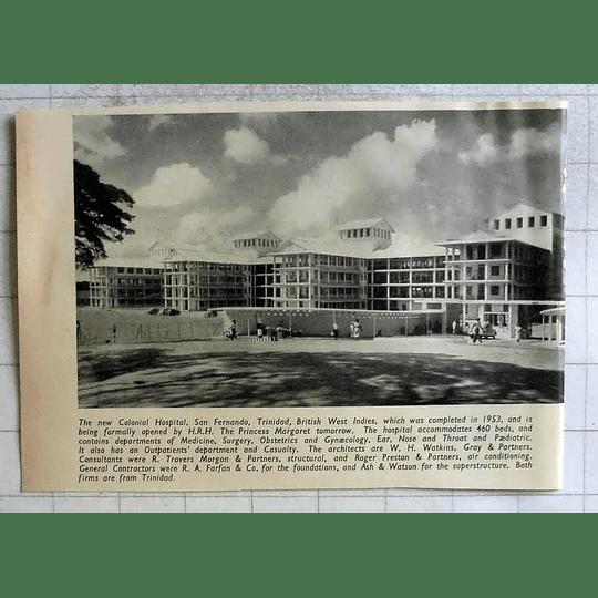 1955 New Colonial Hospital San Fernando Trinidad British West Indies