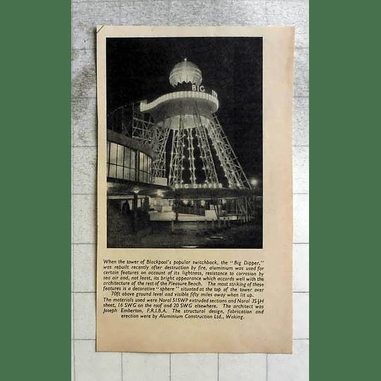 1955 Blackpool Switchback Big Dipper Rebuilt After Destruction By Fire