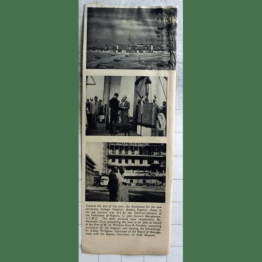 1955 Foundations Laid For New University College Hospital Ibadan Nigeria