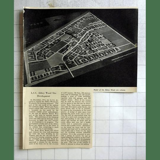 1955 Lcc Abbey Wood Site Development Model Of Scheme