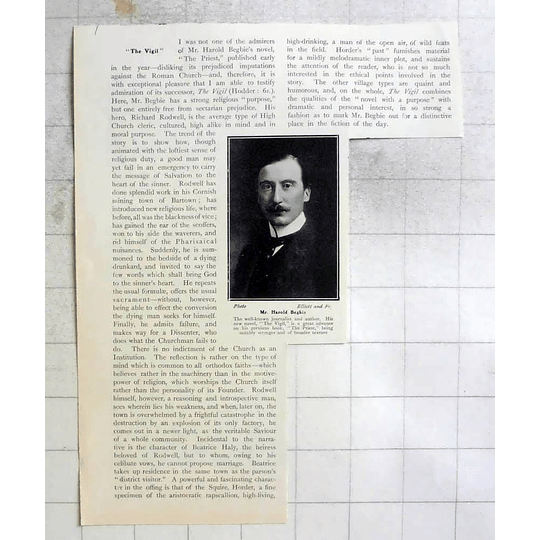 1907 Mr Harold Begbie Well-known Journalist And Author