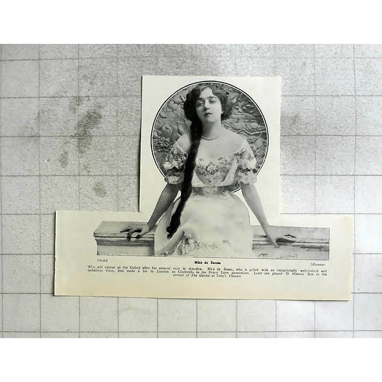 1907 Miss D'sousa Well-trained And Melodious Voice
