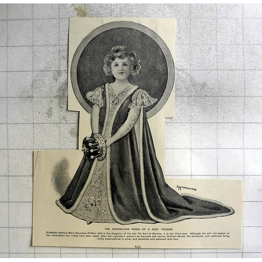 1902 Three-year-old Elizabeth Adeline Mary Baroness Clifton
