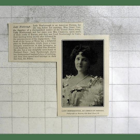 1904 Lady Newborough, American Peeress