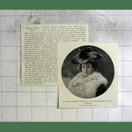 1904 Madame Marthe Regnier Celebrated