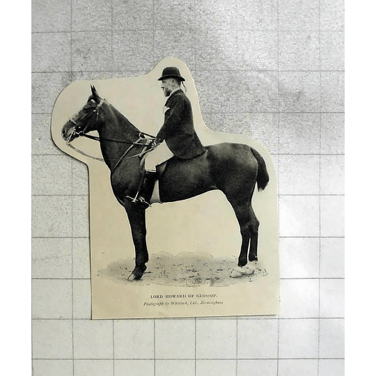 1904 Lord Howard Of Glossop Astride Horse