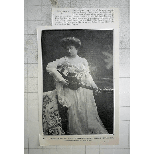 1904 Miss Margaret Irby Musical, Sportswoman, Boyland Hall