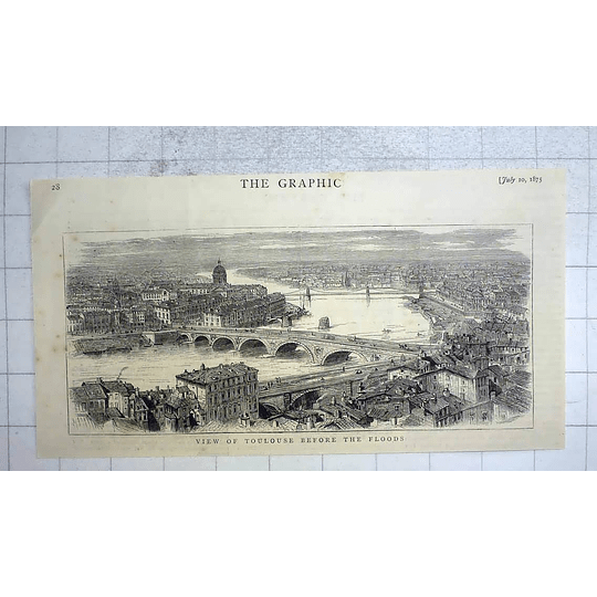 1875 View Of Toulouse Before The Floods