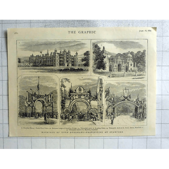 1875 Festivities At Stamford, Marriage Of Lord Burghley
