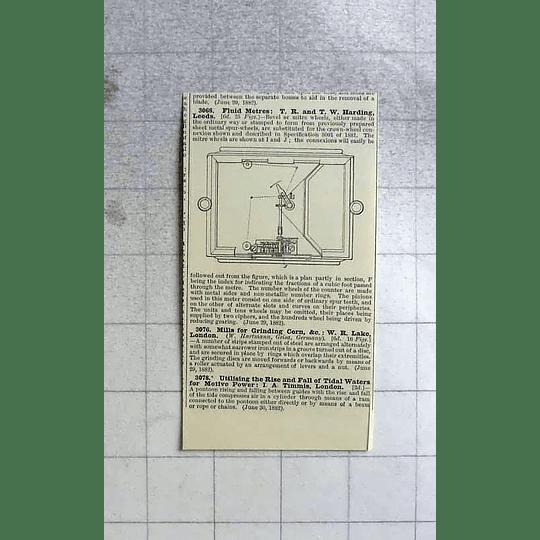 1883 Harding, Leeds, Fluid Metres, Patent