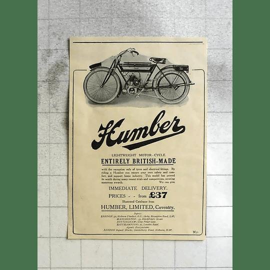 1911 Humber Lightweight British Made Motorbike £37