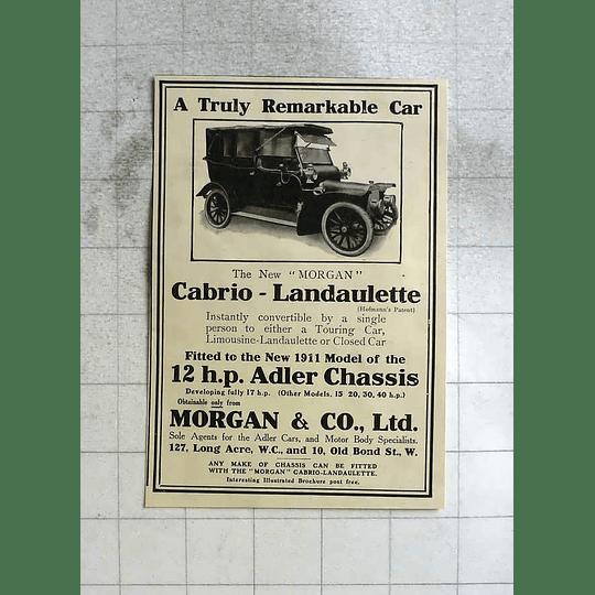 1911 Truly Remarkable Morgan Cabriole Landaulette Car