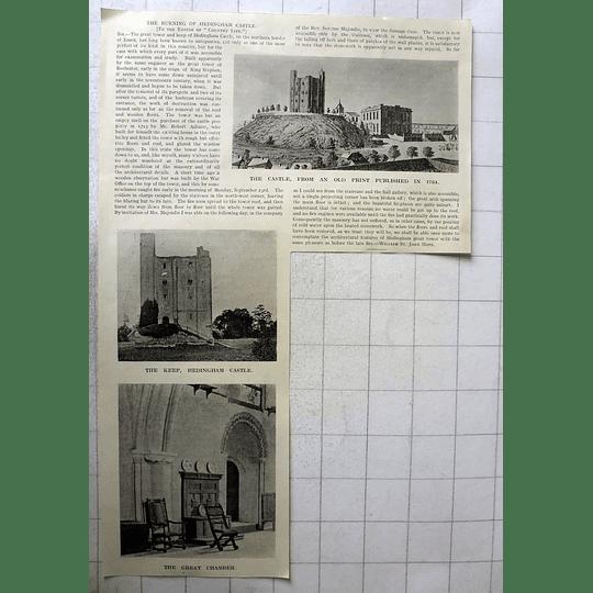1918 The Burning Of Hedingham Castle