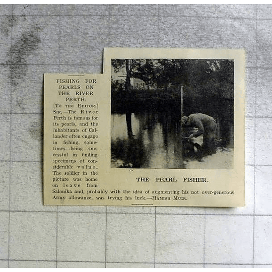 1918 Fishing For Pearls On The River Perth