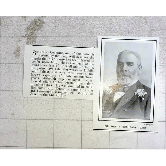 1903 Sir Henry Cochrane Extensive Works Dublin And Belfast