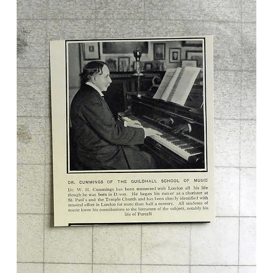 1903 Dr Wh Cummings Guildhall School Of Music