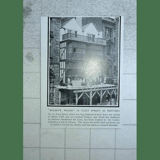 1903 Wolsey's Palace In Fleet Street As Restored
