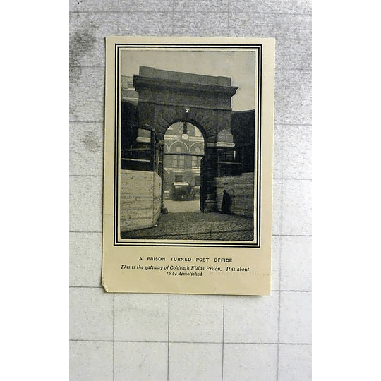 1903 Gateway Of Coldbath Fields Prison, Turned Post Office, To Be Demolished