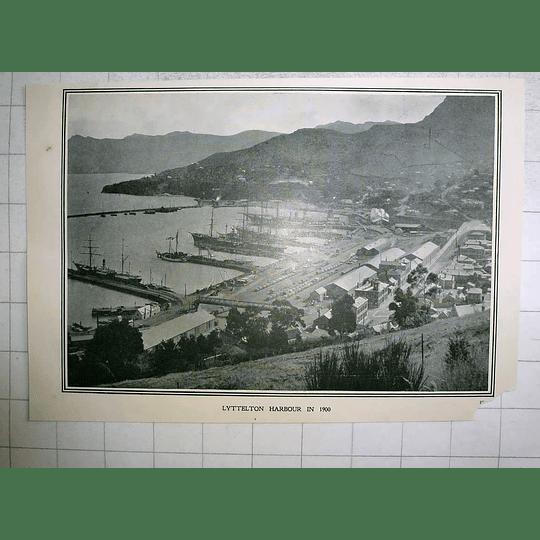 1903 Lyttelton Harbour In The Year 1900