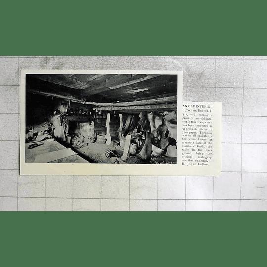 1905 An Old Interior Council Room Butchers Guild Ludlow, H Jones