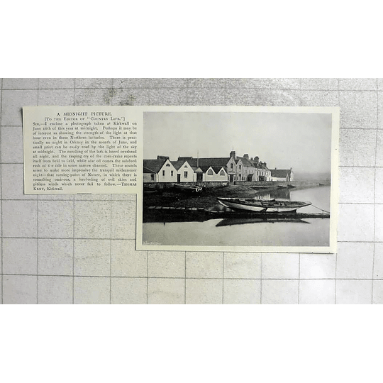 1905 Photograph Tait Taken At Kirkwall At Midnight, Thomas Kent