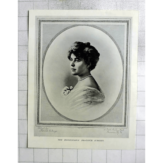 1905 The Honourable Beatrice O'brien Portrayed By Keturah Collings