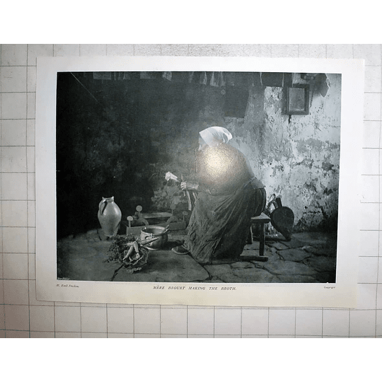 1905 Mother Brouet Making The Broth, Emile Frechon Photo