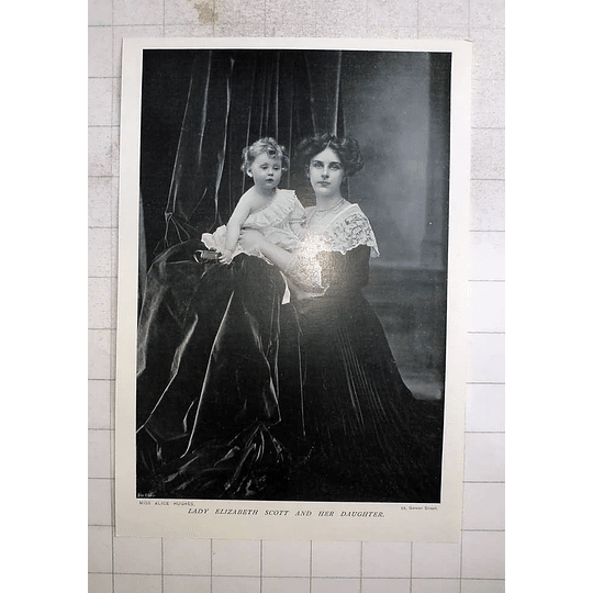 1905 Lady Elizabeth Scott And Her Daughter
