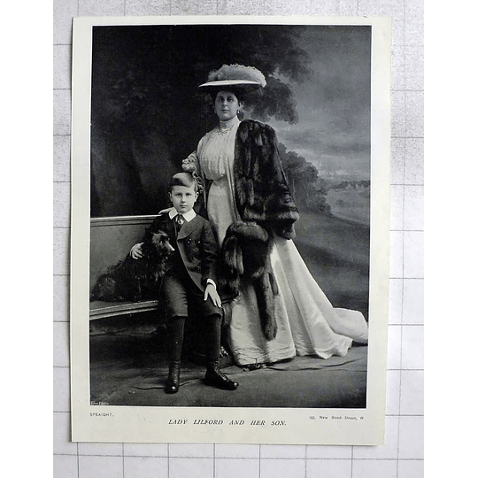 1905 Lady Lilford And Her Son