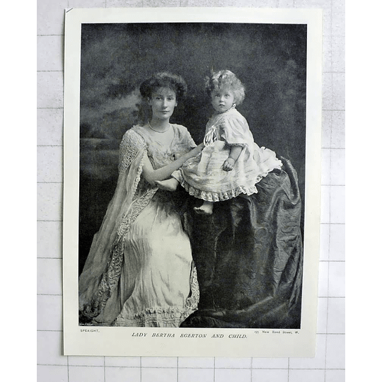 1905 Lady Bertha Egerton And Her Child