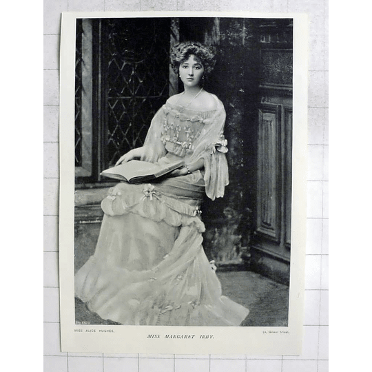 1905 Miss Margaret Irby Seated Pose By Miss Alice Hughes
