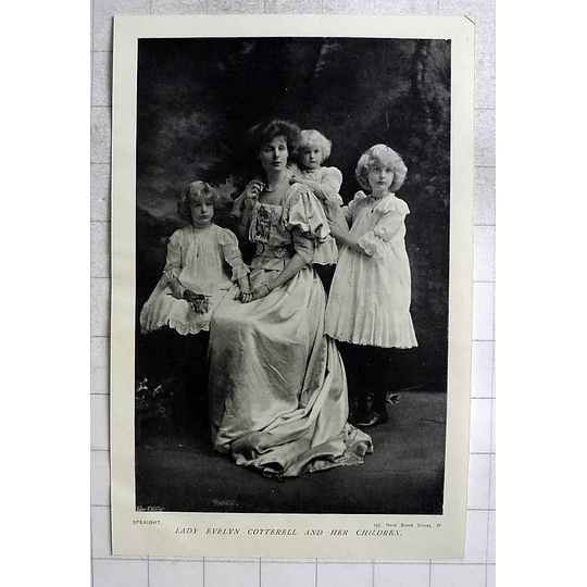 1905 Lady Evelyn Cotterell And Her Children