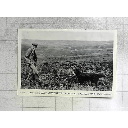 1905 Col The Honourable Augustus Cathcart And His Dog Jack