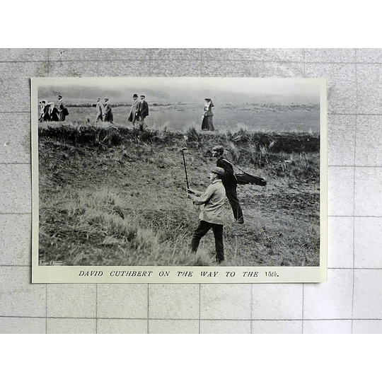 1905 Golf Match, David Cuthbert On The Way To The 15th