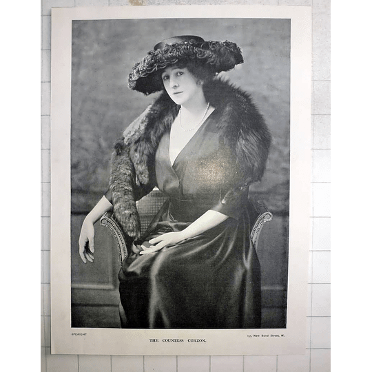 1918 The Countess Curzon, Photo Portrait By Speaight