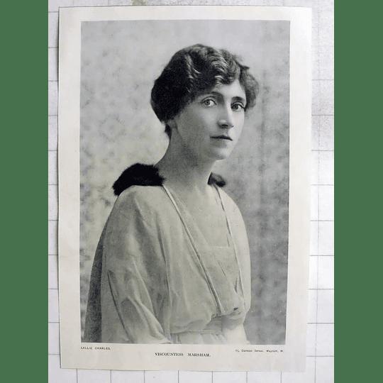 1918 Viscountess Marsham, Photo Portrait By Lallie Charles