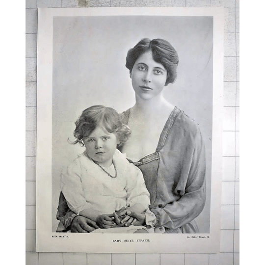 1918 Photo Portrait Of Lady Sibyl Fraser With Her Daughter, Rita Martin