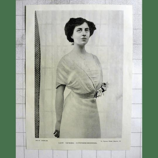 1918 Photo Portrait Of Lady Victoria Cavendish -bentinck