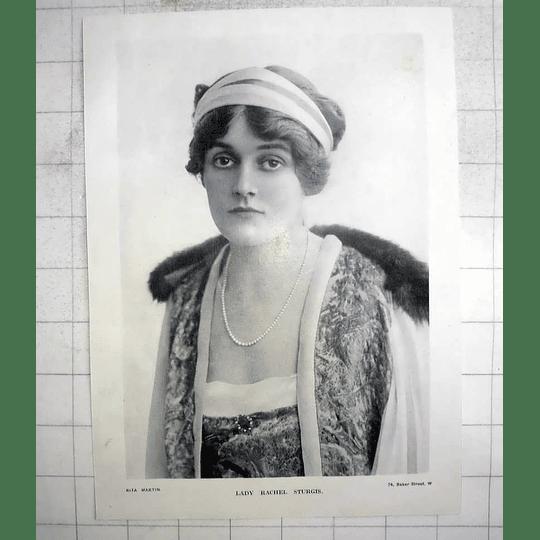 1918 Photo Portrait Of Lady Rachel Sturgis