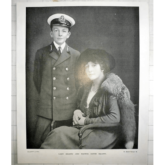 1918 Photo Portrait Of Lady Beatty And Master David