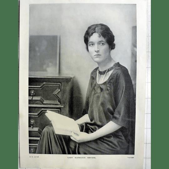 1918 Photo Portrait Of Lady Kathleen Thynne