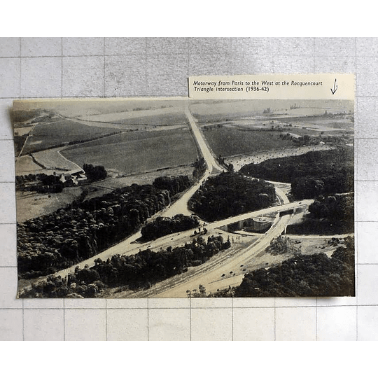 1955 Triangle Intersection Motorway Paris To West Rocquencourt