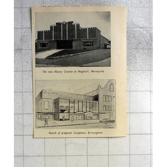 1955 New Albany Cinema Maghull Merseyside, Proposed Cinephone Birmingham