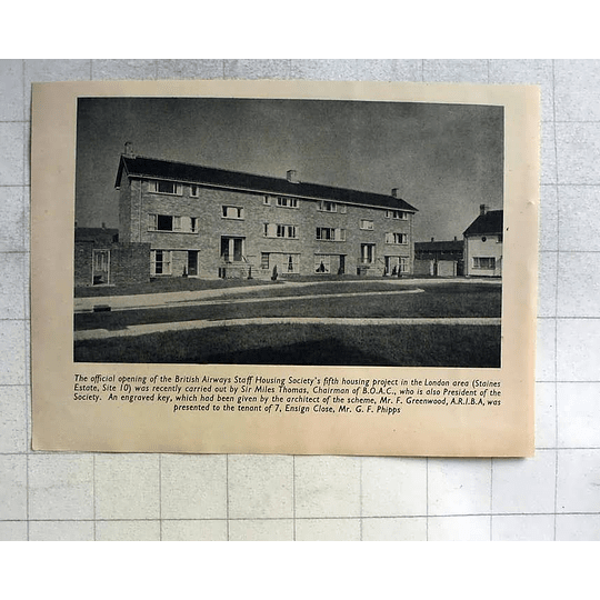 1955 Official Opening British Airways Staff Housing Society Staines Estate