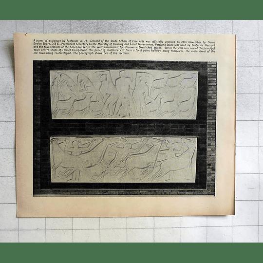 1955 Panel Of Sculpture Prof Ah Gerrard Slade School Of Fine Arts