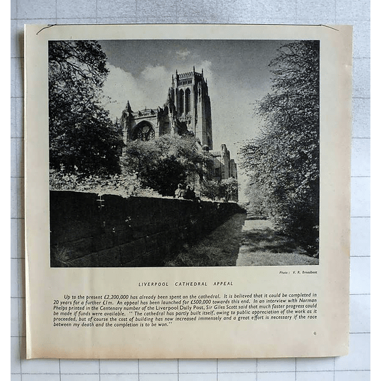 1955 Liverpool Cathedral Appeal £500,000 Needed