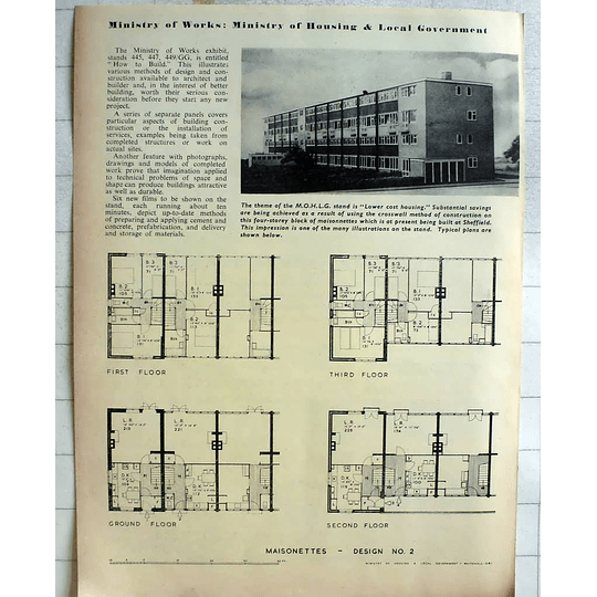 1955 Ministry Of Works, Housing And Local Government Maisonettes, Design, Plan
