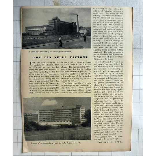 1955 The Van Nelle Factory Outskirts Of Rotterdam