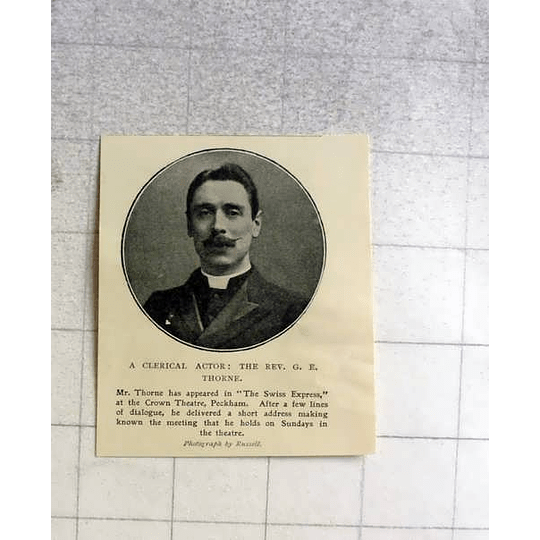 1905 Clerical Actor The Rev Ge Thorne