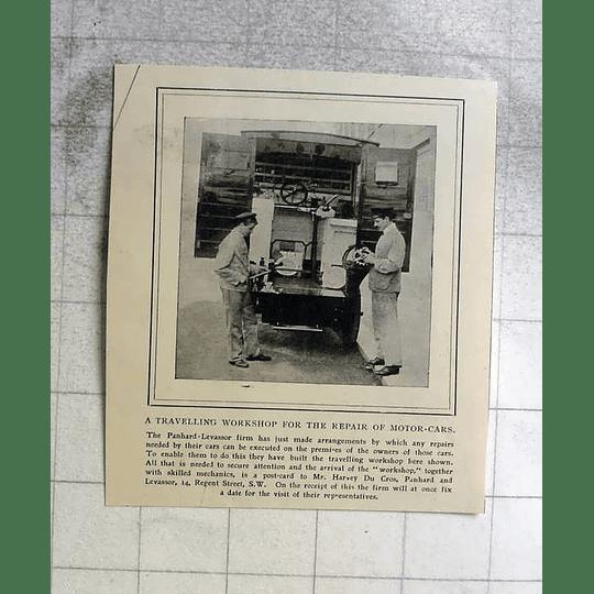 1905 Travelling Workshop To Repair Motorcars Panhard Levassor